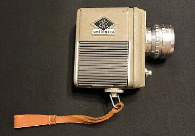 Vintage Eumig Unilectra Video Camera w/ Elgeet Lens And Leather Strap