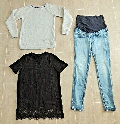 Mama & Asos Maternity Clothes - Jeans, Jumper And Top - Size 10 - All In Vgc