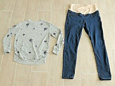 Jeans West & Mama Maternity Clothes - Jumper And Jeans -Size 12 -
