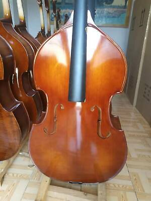 Handcrafted upright double bass solid wood maple spruce 3/4 double bass