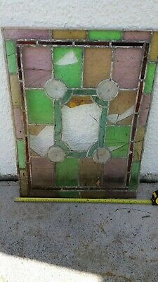 Stained glass circa 1936  will break up for spares repairs etc See description.