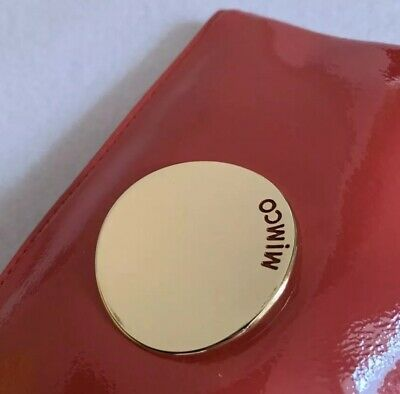 BNWT Red Leather Mimco Waver Pouch