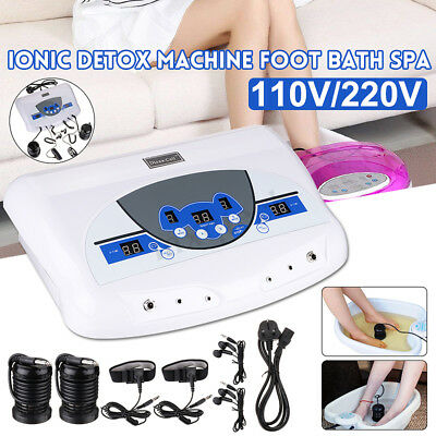 Dual Ion Cell Detox Ionic Foot Bath Spa Cleanse Machine with LCD &  MP3