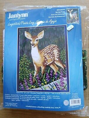 "Janlynn Longstitch Kit, Spring Fawn #013-0344, 12""x16"""