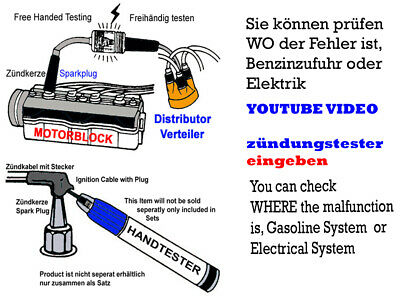 Zündungstester 2 Items/Stück offered/im Angebot Benzinmotoren/Gasoline Engines