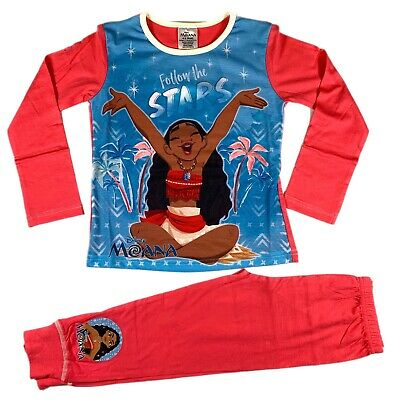 Official Disney Moana Pajamas Pjs Girls Kids Children's 5 6 8 10
