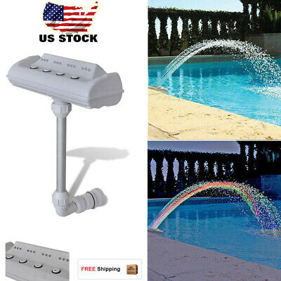 CASCADE WATERFALL SWIMMING Pool Fountain Jets LED Lights ...