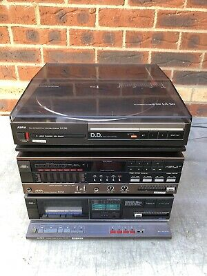 Aiwa RX-50 Receiver FX-50 Cassette LX-50 Turntable & RK-55 Rack. Free UK Post.