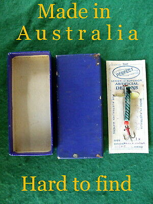 PERFECT metal DEVON vintage old spinning fishing lure with BOX made in Australia
