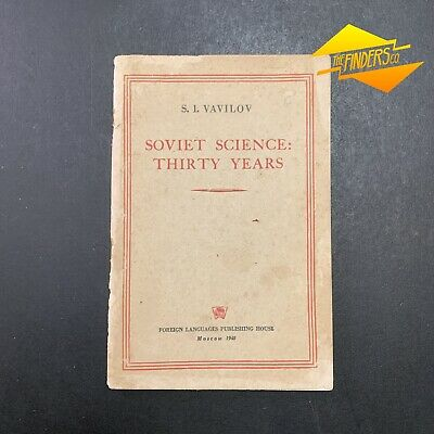 Vintage Original 1948 'Soviet Science: Thirty Years' S.i.vavilov Printed In Ussr