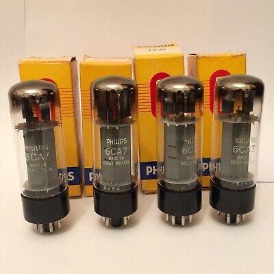 *RARE* 4 x Phillips 6CA7 Valves In Box Made in Great Britain Fully Tested AS NEW