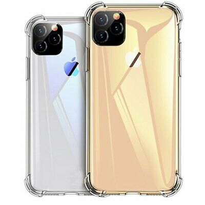 For Apple iPhone 11 XS Max XR X 8 7 6S 6 Plus Slim Shockproof Clear Case Cover