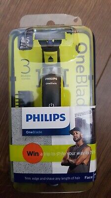 Philips One blade face 3 stubble combs45 minutes run time.