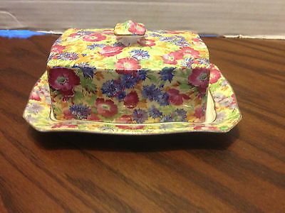 Vintage Royal Winton Grimwades Chintz ROYALTY Butter Dish With Lid