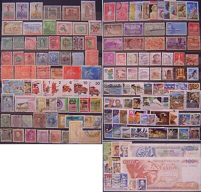 America (USA, Paraguay, Brazil etc) World collection of 145 stamps lot. Used MNG
