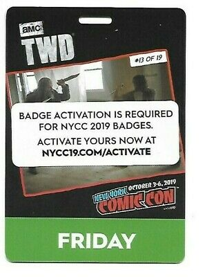 New York Comic Con 2019 Friday Pass Activated Ready To Ship