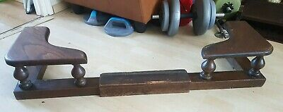 VINTAGE Extendable Solid Wood Seat FIRE FENDER Fret Front HearthGuard Decoration