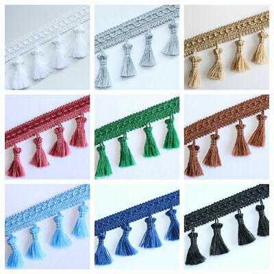 Fringe Tassel Trim, Bobble Ribbon, Tape with Tassels for curtains fabric craft