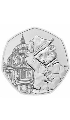 2019 UK Paddington  at St.Pauls  50p Coin uncirculated from sealed bag