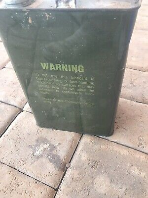 One Gallon Us Military 0-158 Lsa Mil-L-46000 B Weapons Oil