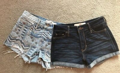 Two pairs of Hollister Shorts  Size 0 W24- Only Worn Once