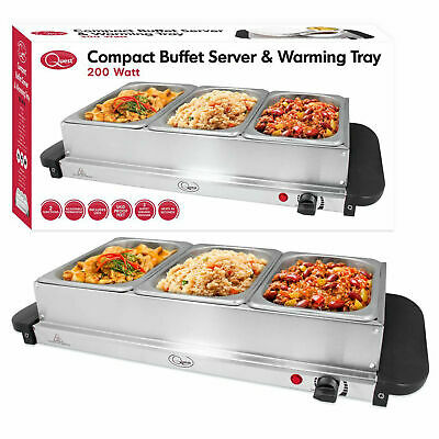 Quest Compact Buffet Server Stainless Steel Food Warming Tray Serving Station
