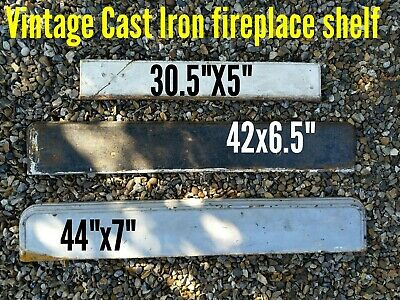 Vintage Cast Iron Fire Place Fireplace Metal Shelves Shelf Mantel Ct11 Kent