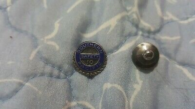 Vintage Southern Pacific Railroad 10 Year Employee Safety Award Pin
