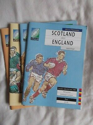 Rugby World Cup 1991 Programmes