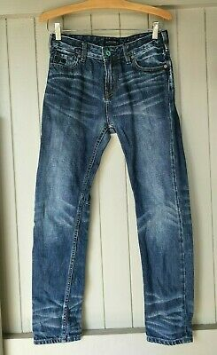 Scotch Shrunk Blue Dean Patterned Jeans Size 12/152 Boy's Casual Everyday