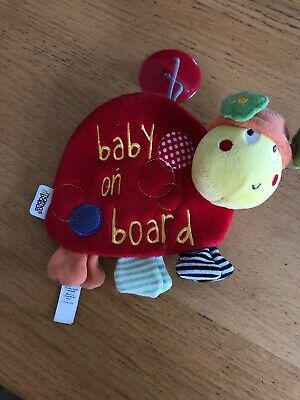 Mamas And Papas Baby On Board Tortoise Hanging Toy For Car VGC