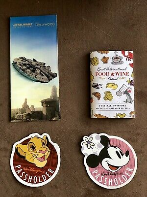 Disney World Passholder Simba And Chef Minnie Magnets W/ F&W Festival Passport