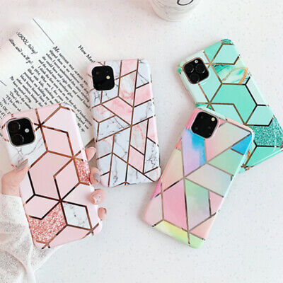 Geometric Marble Case for iPhone 11 Pro XS MAX X XR 8 7 Plus Soft Pastel Cover