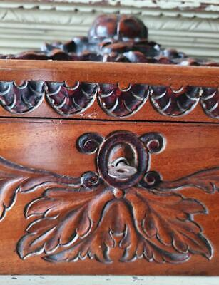 Stunning Antique French Handcrafted Oak Coffre,Boudoir Box,with Original Key