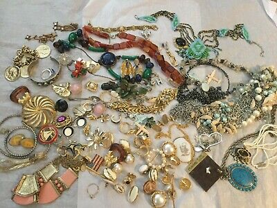 Vintage To Now Junk Drawer Jewelry Lot Estate Finds #1