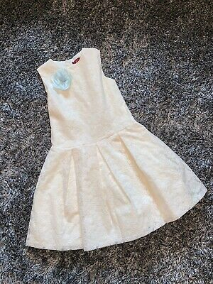 Excellent Condition - L&B Spanish Girls Ivory Dress - Age 12 Years - Embroidered