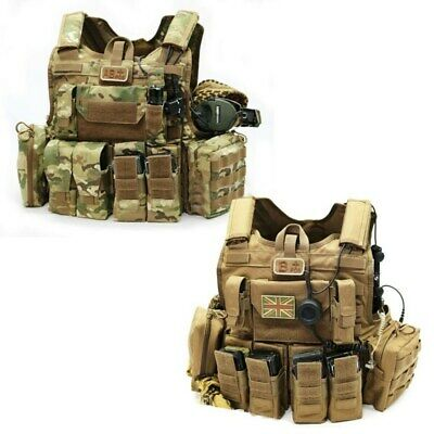 [G-CASE] CIRAS Maritime Tactical Plate Carrier Kit Crye Multicam Coyote Brown