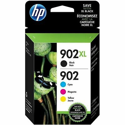 4-PACK HP GENUINE 902XL Black & 902 Color Ink (RETAIL BOX) OFFICEJET EXPIRE 2021