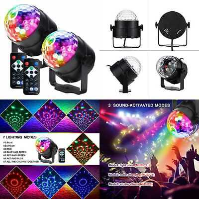 Party Lights Disco Ball LED Strobe Sound Activated RBG Dj Portable 7 Modes Stage