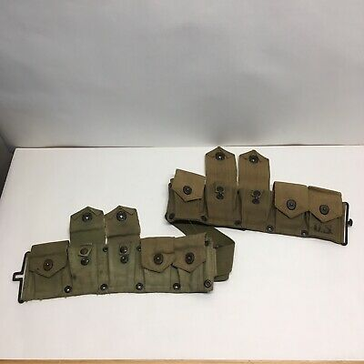 WWII WW2 M-1 Garand  Ammo Cartridge Belt / Authentic Original