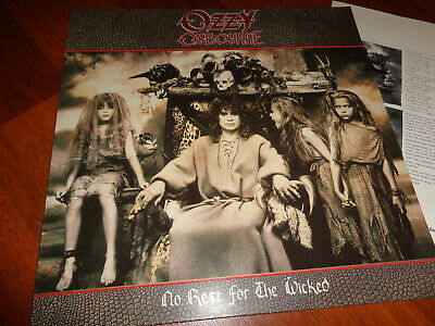 Ozzy Osbourne ‎– No Rest For The Wicked..org,1988...rare first press!!