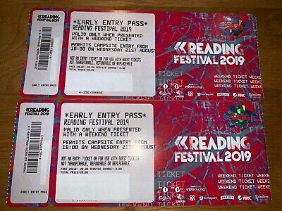 *Early Entry Pass* READING Festival 2019 Ticket