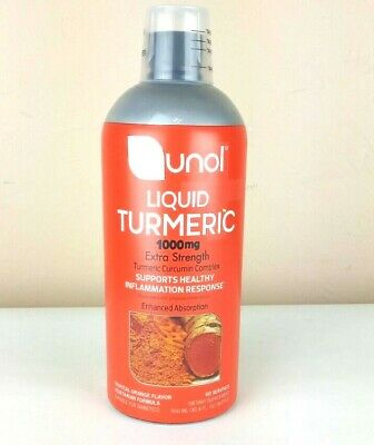 QUNOL Liquid Turmeric ANTI-INFLAMMATION 1000mg 30.4oz Tropical Orange *NO BOX*