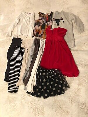 Girls Bundle Of Clothes 5-6 Years ( Next, H&M F&F, La Redoute)