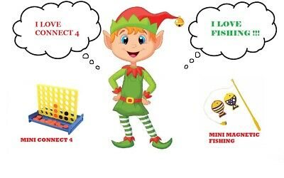 ELF ACCESSORY Prop Ideas Mini Connect 4 & Fishing Game for on the shelf at Xmas