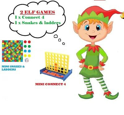 ELF ACCESSORY Prop Ideas Mini Connect 4 & Snakes & Ladders for on the shelf