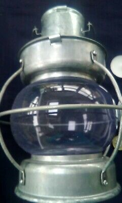 Ships Hurricane Lamp Candle Holder Metal Tealight Reproduction