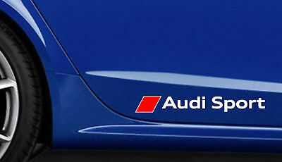 2x AUDI Sport 280mm Premium Side Decals Stickers