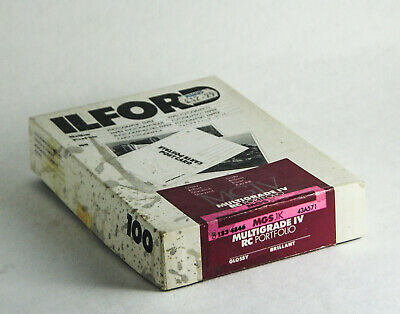 "Ilford Multigrade IV RC Portfolio Postcard Paper 4x6"" Glossy 100 Sheet. Frozen."
