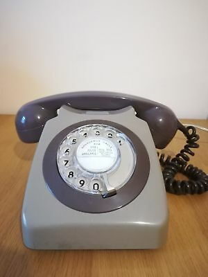 Vintage GPO 746 telephone grey and brown